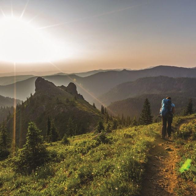 Solo hiking by Erynn Allen