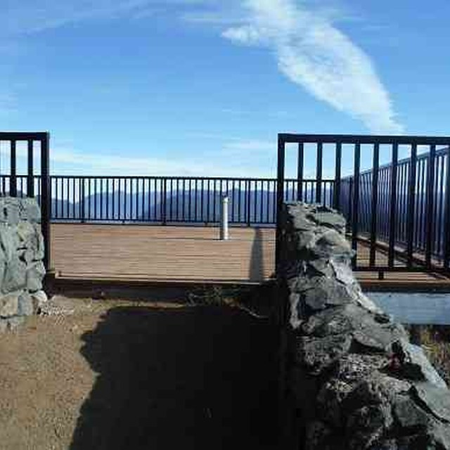The site of the former lookout, now a viewing area. Photo courtesy Olympic National Forest.