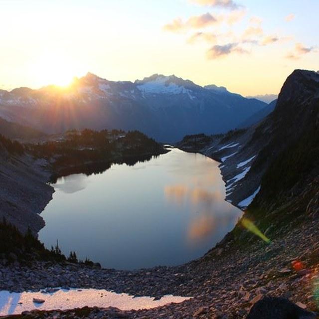 Sunrise over Hidden Lake