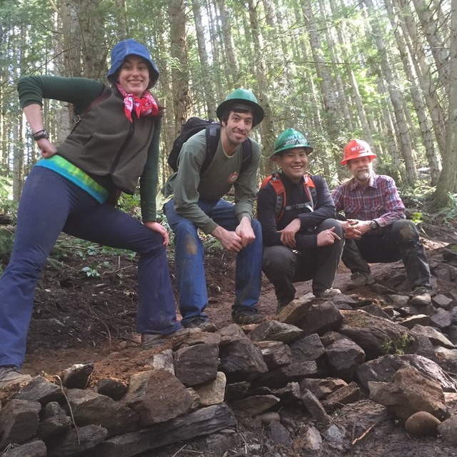 Volunteers at Oyster Dome