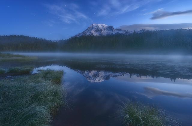 Twilight on Reflection Lakes