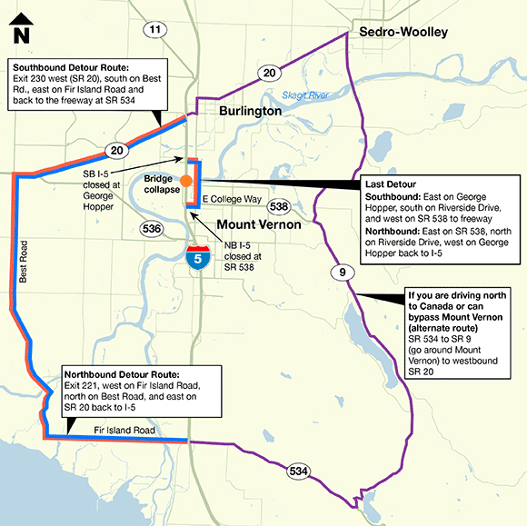 I-5 Detour Route
