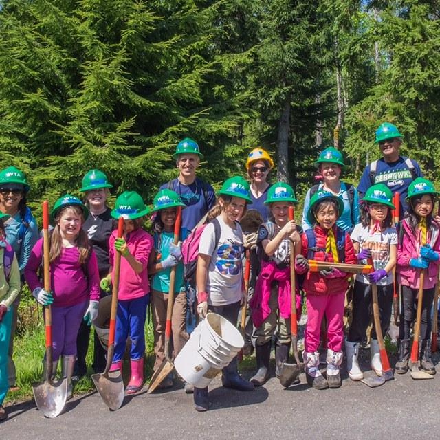 North Seattle Girls Scouts at Grand Ridge
